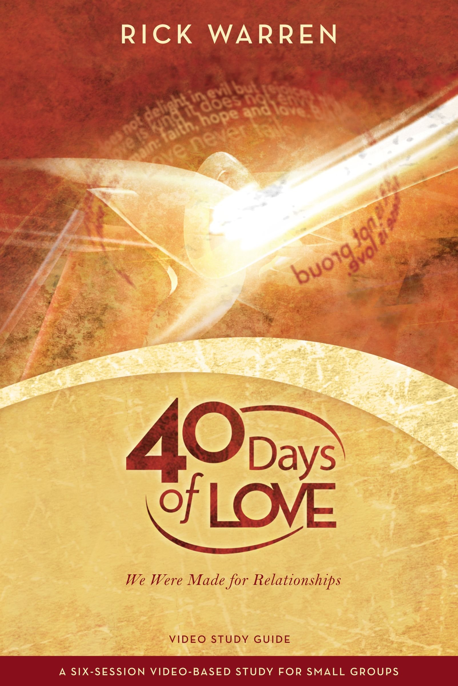 40 Days of Love Study Guide: We Were Made for Relationships pdf epub
