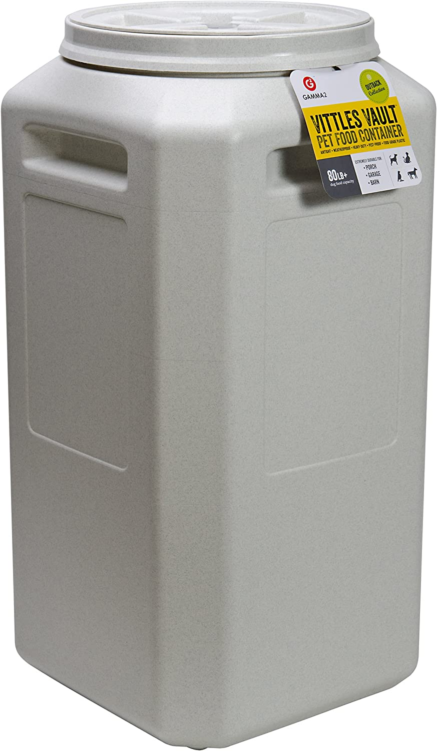 Gamma2 Vittles Vault Outback 80 lb Airtight Pet Food Storage Container