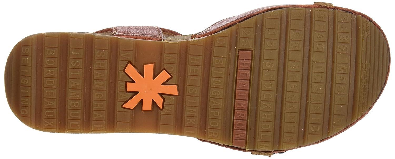 Art Geschlossene Damen 1323 Memphis Borne Geschlossene Art Sandalen, braun, Rot (Petalo) 869079