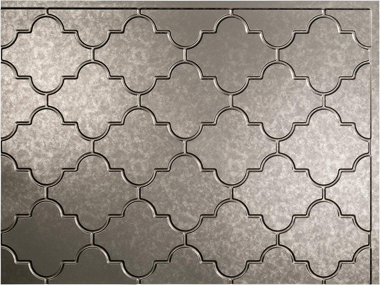 - Fasade Easy Installation Monaco Galvanized Steel Backsplash Panel