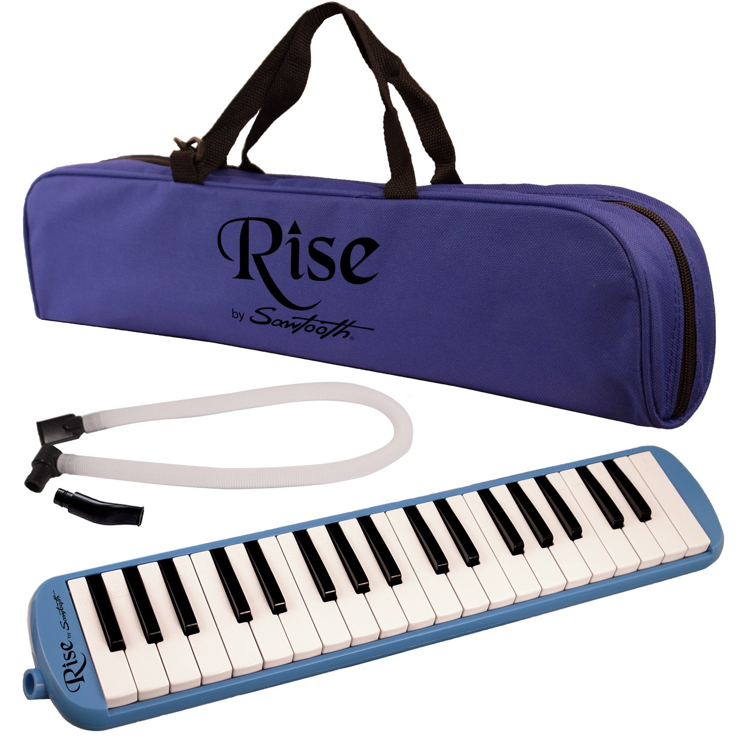 Rise by Sawtooth ST- RISE-MEL-37-BLUE Piano Style Melodica, Blue