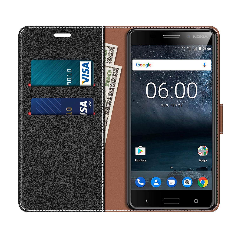 COODIO Funda Nokia 6 con Tapa, Funda Movil Nokia 6, Funda Libro ...