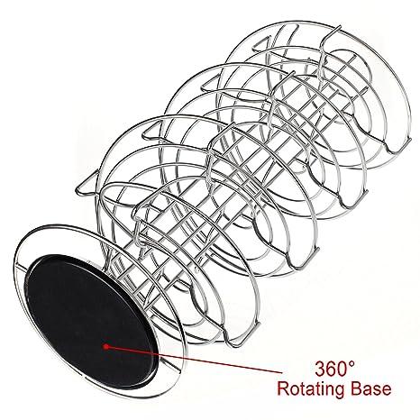 Amazon.com: AMOS Revolving Rotating Spiral Coffee Pod Holder Stand Tower Dolce Gusto Nespresso Tassimo Capsule Storage Organiser Stainless Steel Rack ...