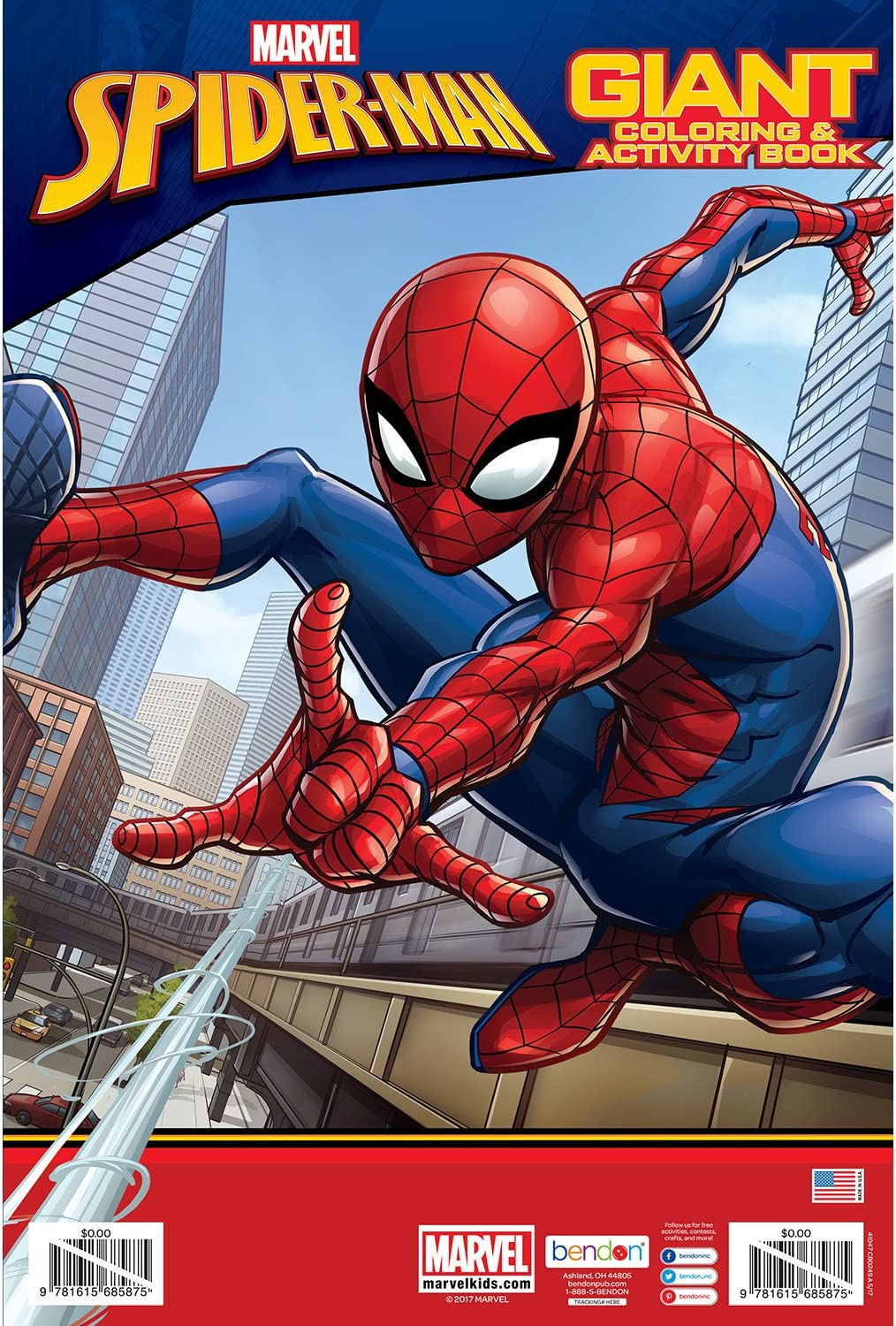 Bendon Spider-Man Giant Coloring and Activity Book