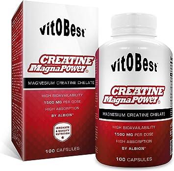 Suplemento Creatina CREATINE MAGNA POWER - Suplementos Deportivos - Vitobest (100 Cap)