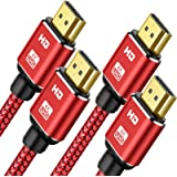 4K HDMI Cable[2 Pack]15Feet,Capshi High Speed 18Gbps HDMI 2.0 Cable,4K HDR,3D,2160P,1080P,Ethernet-Nylon Braided HDMI Cord Co