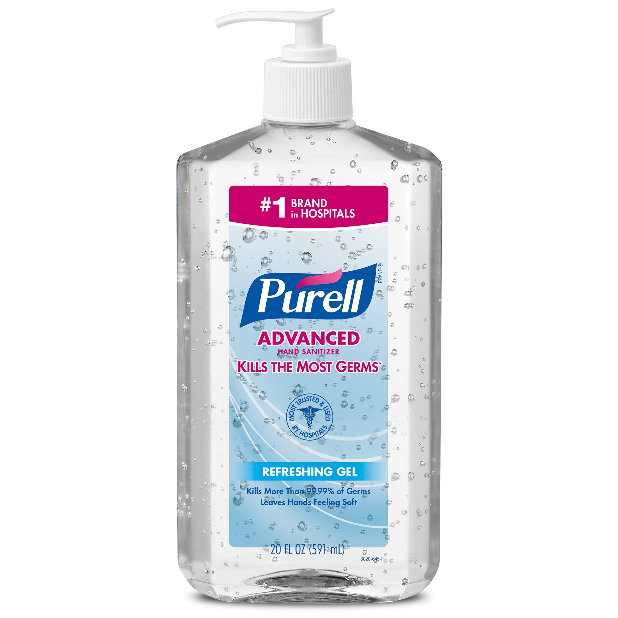 PURELL Advanced Hand Sanitizer Bottle -  Hand Sanitizer Gel, 20 fl oz Pump Bottle (Pack of 2) - 3023-12-EC