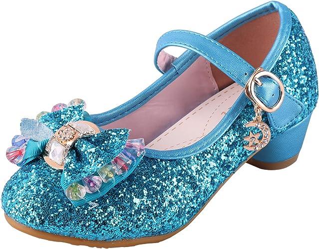 Girl/'s Princess Kid Shoes Sequins Bow Dance Party Dress Performance Flat Sandals
