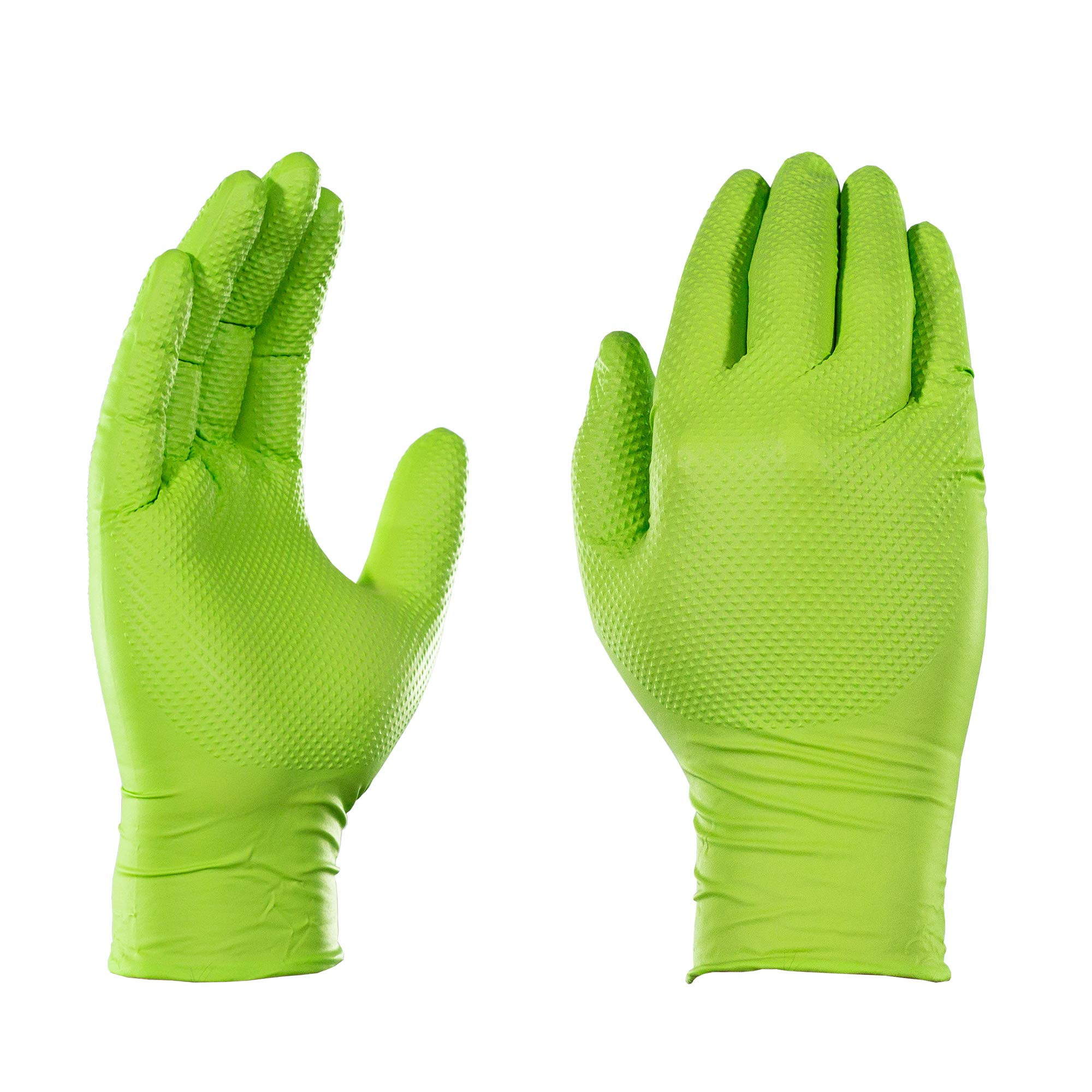 AMMEX - GWGN44100 - Nitrile Gloves - Gloveworks - HD, Disposable, Powder Free, 8 mil, Medium, Green (Case of 1000)