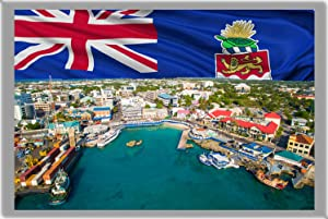 GEORGE TOWN FRIDGE MAGNET, THE CAPITAL CITY OF CAYMAN ISLANDS REFRIGERATOR MAGNET