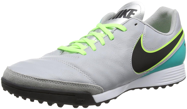 NIKE Tiempox Genio II Leather TF Mens Soccer-Shoes 819216-003_8.5 - Wolf Grey/Black-Clear Jade B01IWO0WDK Parent