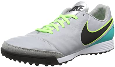 NIKE Men's Tiempo Genio II Leather TF Turf Soccer Cleat (SZ. 9.5) Clear