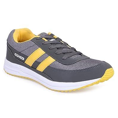0569c78de06 GoldStar Grey   Yellow Color Sport Running Shoes for Men  Buy Online ...