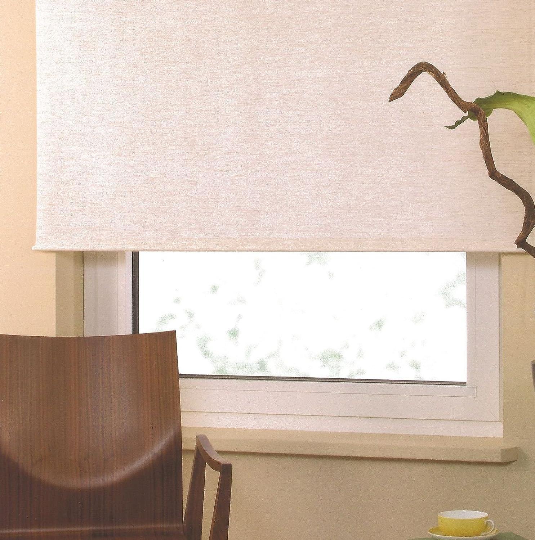 Good Life Rollo Springrollo Mittelzugrollo Schnapprollo Fensterrollo Sichtschutz Breite 62 bis 222 cm Höhe 180 cm Creme Beige (202 x 180 cm)