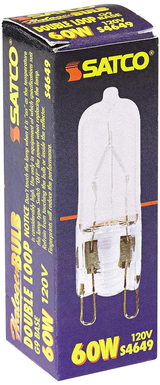 Satco 60 Watt G9 120 Volt Frosted Halogen Light Bulb