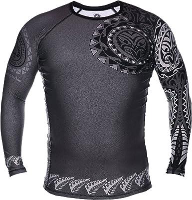 Dirty Ray Artes Marciales Tribal NZ Maori Camiseta Rashguard Manga Larga Hombre RG6LS: Amazon.es: Ropa y accesorios
