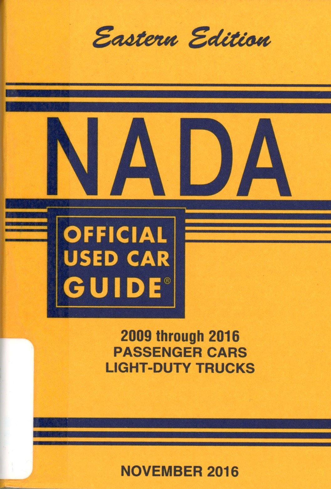 NADA Official Used Car Guide - Eastern Edition - 2098 through 2016 ...