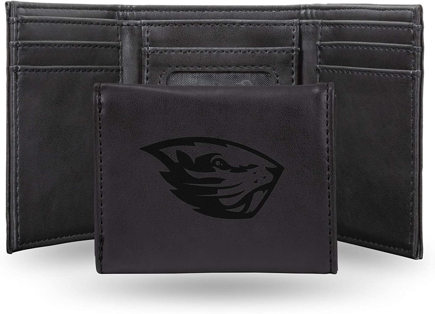 NCAA Rico Industries  Laser Engraved Trifold Wallet Oregon State Beavers