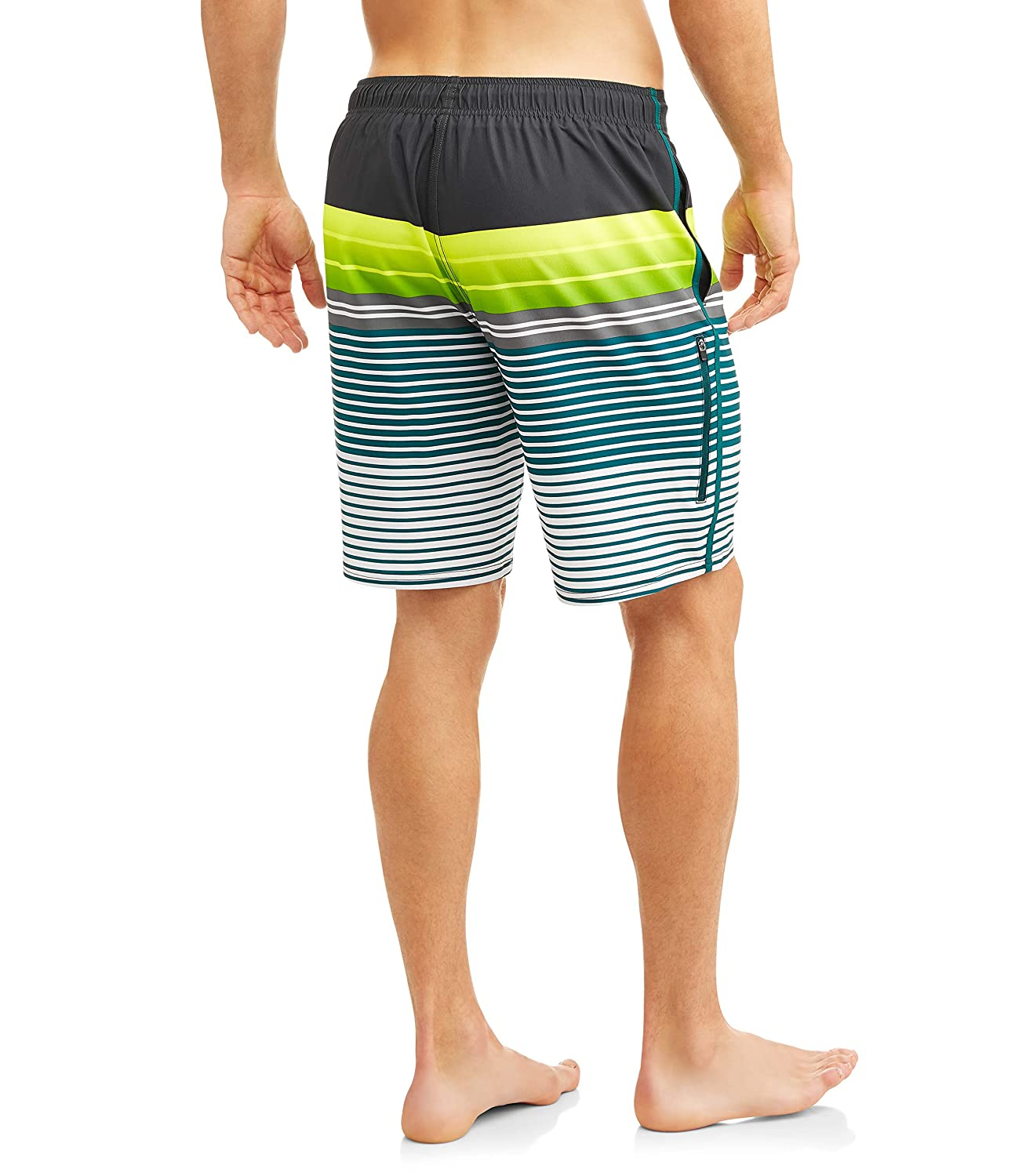 George Teal Taunt Stripe Above The Knee 8 Inseam Eboard Swim Short Trunks