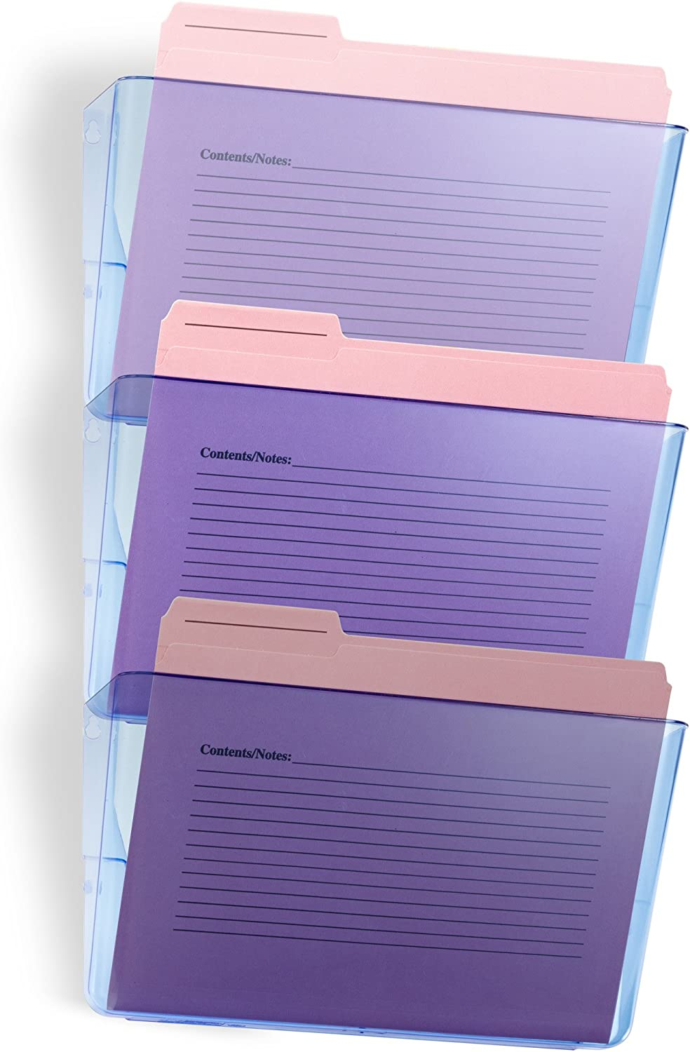 OfficemateOIC Glacier Wall File 3 Pack, Transparent Blue (23220)