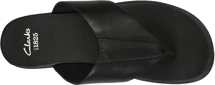190972361b6 Clarks Valor Beach Flip-Flops Mens Black Schwarz (Black Leather ...