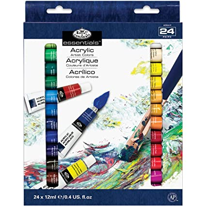 f70b30d31330 Image Unavailable. Image not available for. Colour  Royal   Langnickel  Essentials ABS 12 ml Acrylic Artist Colour Tube Paint ...