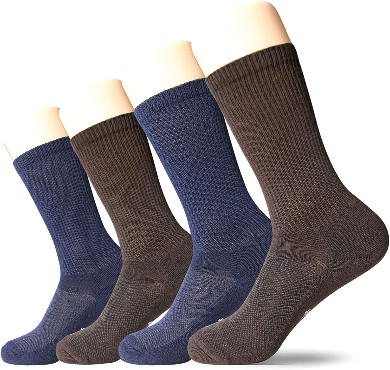 with Cushioned Sole +MD 4 Pack Womens Moiture Wicking Colorful Bamboo Casual Crew Socks