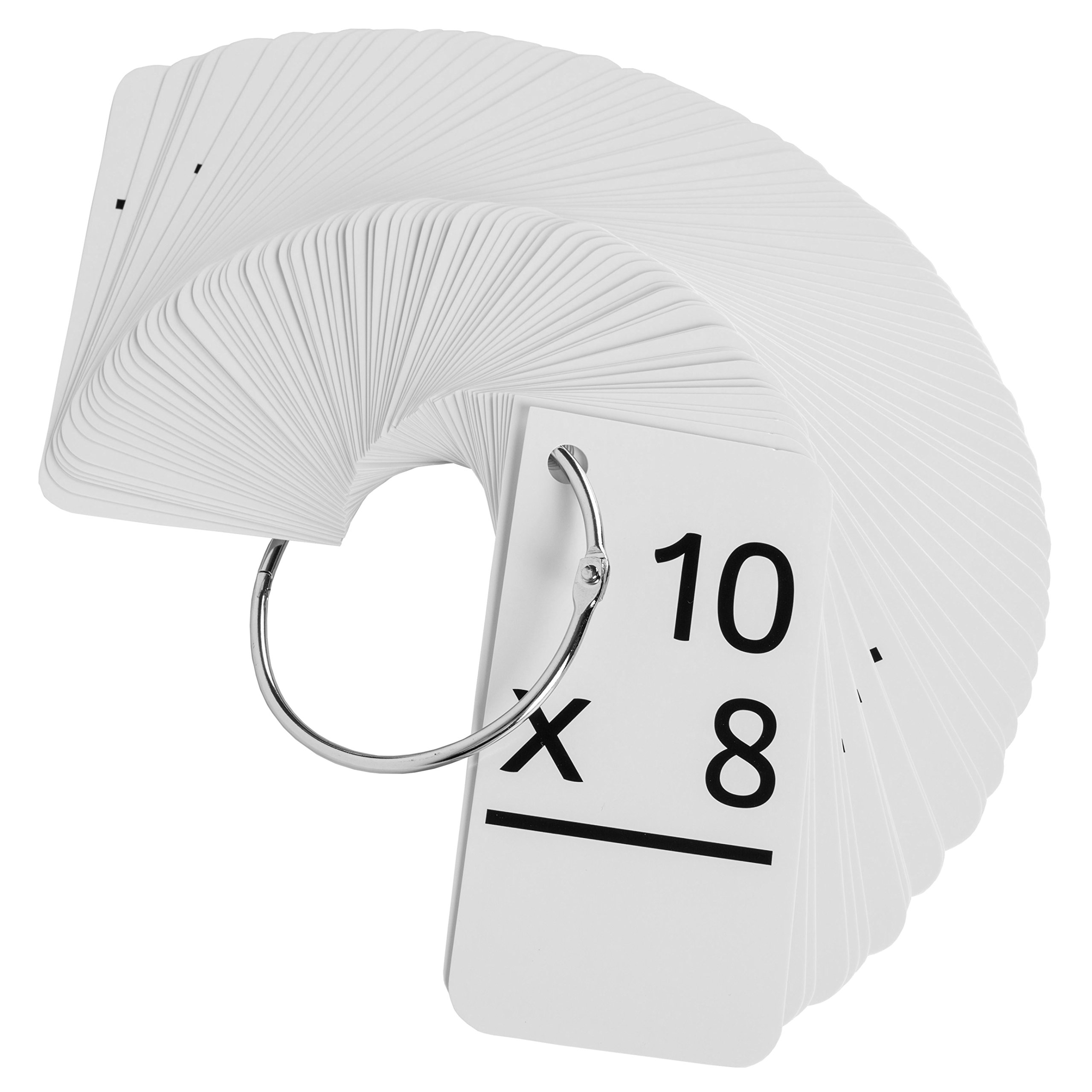 Star Education Multiplication Flash Cards, 0-12 (All Facts-169 Cards) With 2 Rings by Star Right (Image #3)