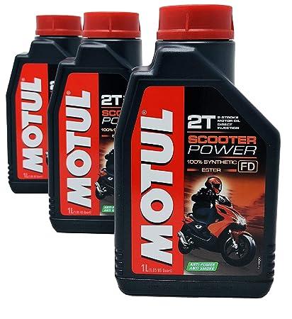 MOTUL Aceite Mezcla Scooter Power 2T 100% Sintético Ester ...