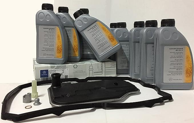KIT CAMBIO aceite/ fluido de la transmisión caja automática ORIGINAL de Mercedes Benz ATF 134 (MB236.15)=9 litros + filtro de caja A2222772000: Amazon.es: ...