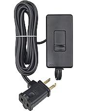 Leviton TBL03-10E 300-watt Tabletop Slide Control Lamp Dimmer, Black