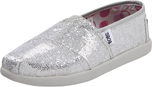 Skechers Bobs World, Mocasines para Niñas, Plateado, 35 EU: Amazon.es: Zapatos y complementos