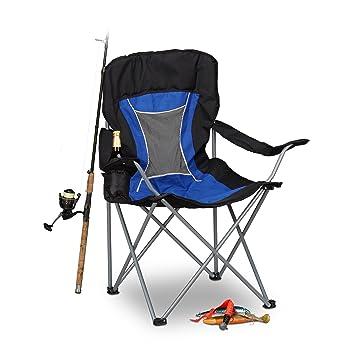 Relaxdays Silla Plegable Camping para Pesca y Festivales ...