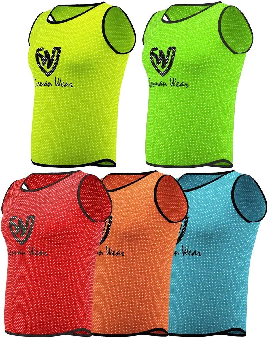 German Wear - Camiseta de Entrenamiento para niños, Adultos, fútbol, Balonmano, Hocky, Baloncesto, Voleibol, Baloncesto, Entrenamiento de Baloncesto, Color Naranja, tamaño Junior (M): Amazon.es: Deportes y aire libre