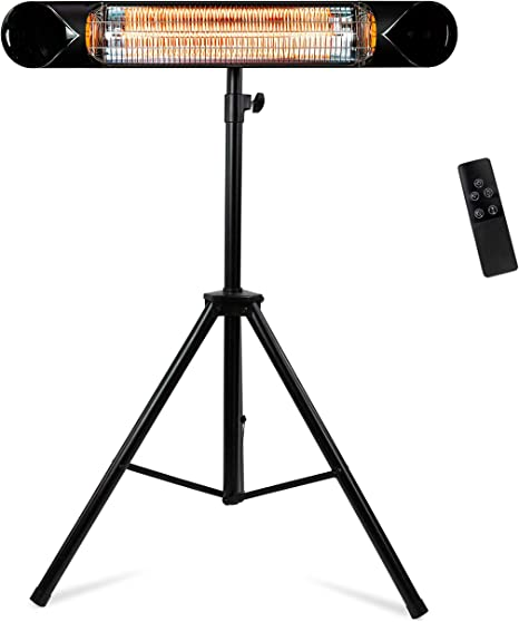 Amazon Com Briza Infrared Patio Heater Electric Patio Heater Outdoor Heater Indoor Outdoor Heater Wall Heater Garage Heater Portable Heater 1500w Use With Stand Mount To Ceiling Wall Kitchen Dining