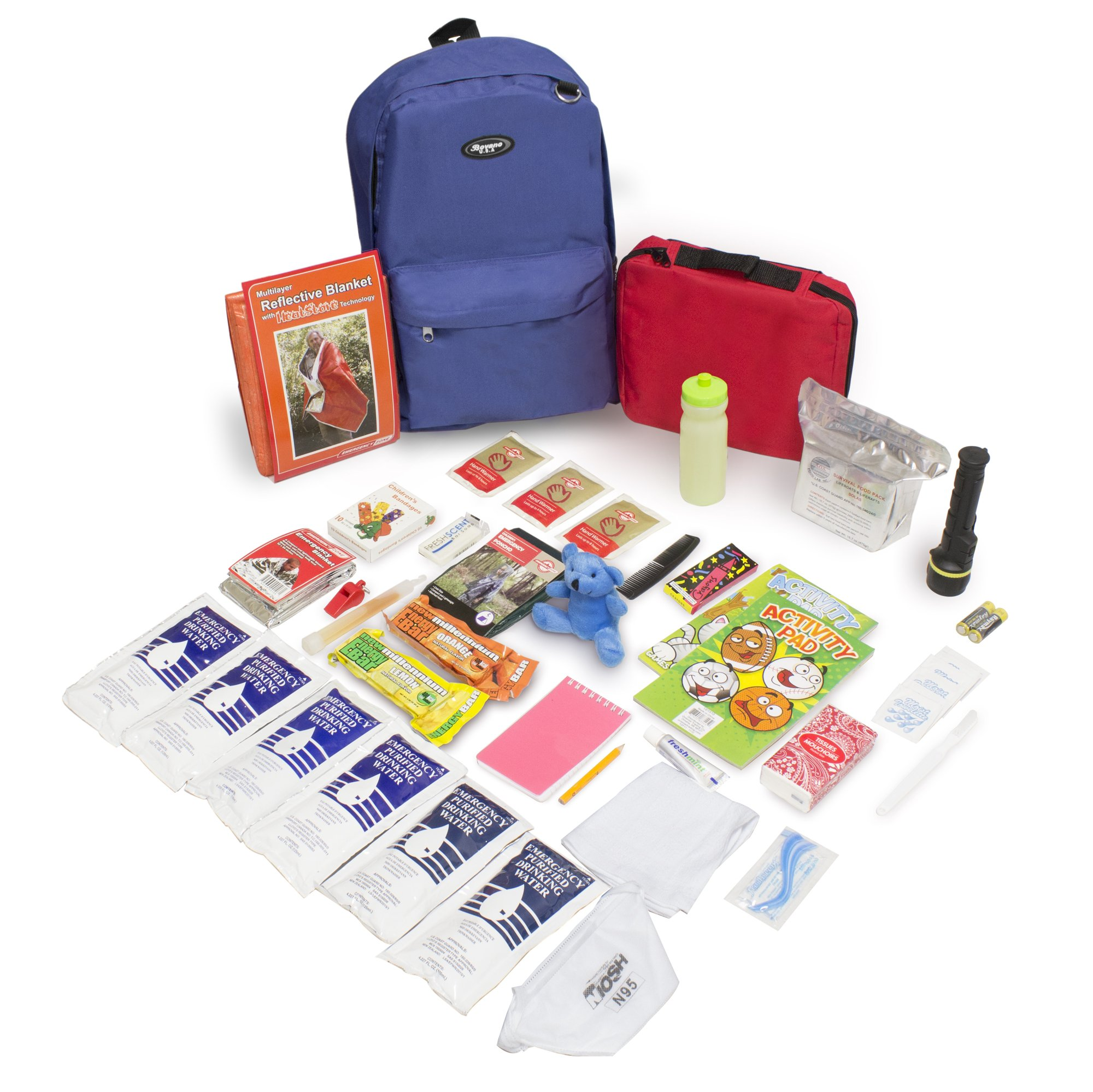 Keep-Me-Safe Children's Deluxe 72-Hr Emergency Survival Kit, Royal Blue by Emergency Zone