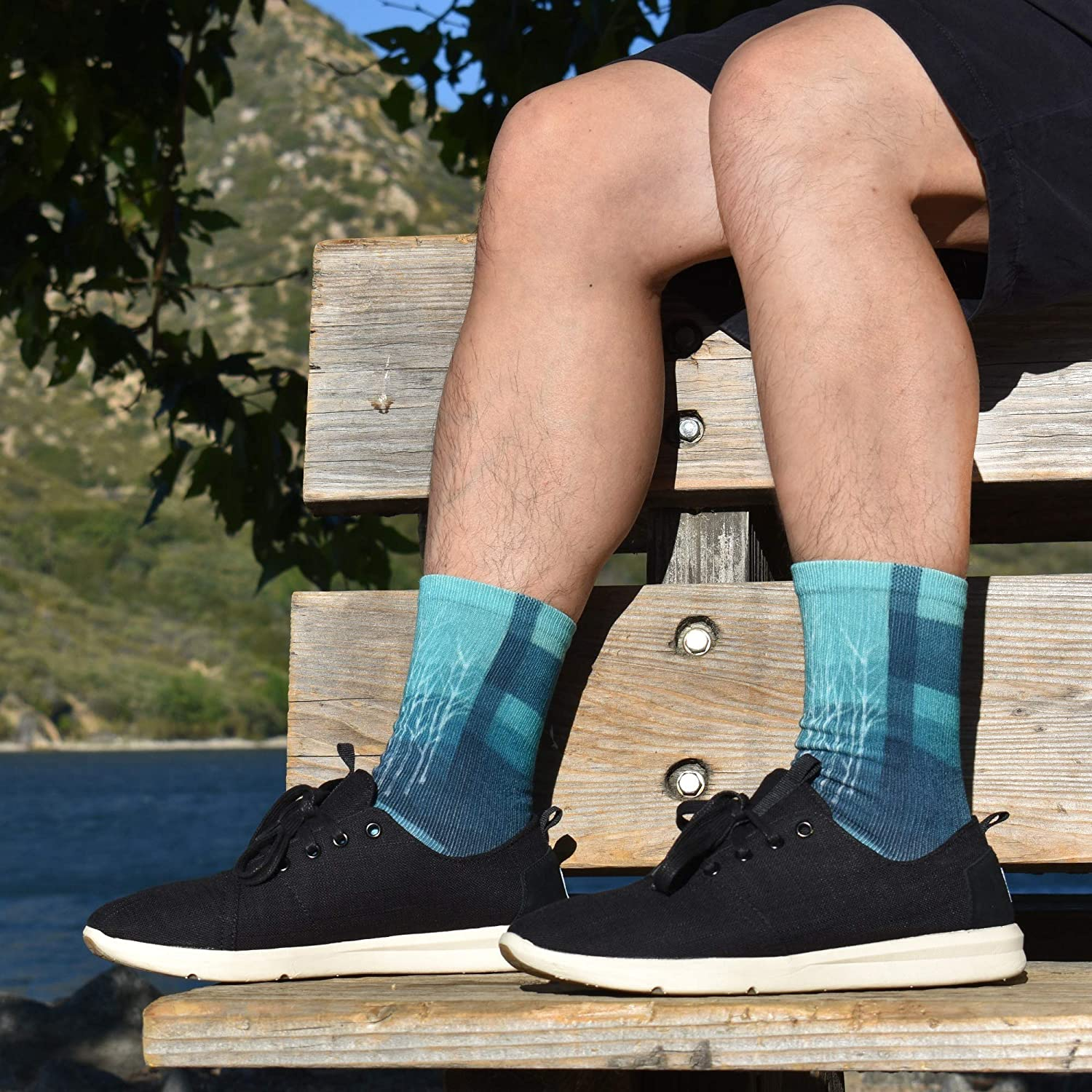 APRIME ECO-CAFE Crew Cushion Socks Made from Coffee Grounds Featured Odor Control /& Fast Drying /& UV Protection