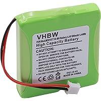 vhbw Accu geschikt voor T-Com Sinus A201 o.a. draadloze vaste telefoon (600mAh, 2.4V, NiMH)