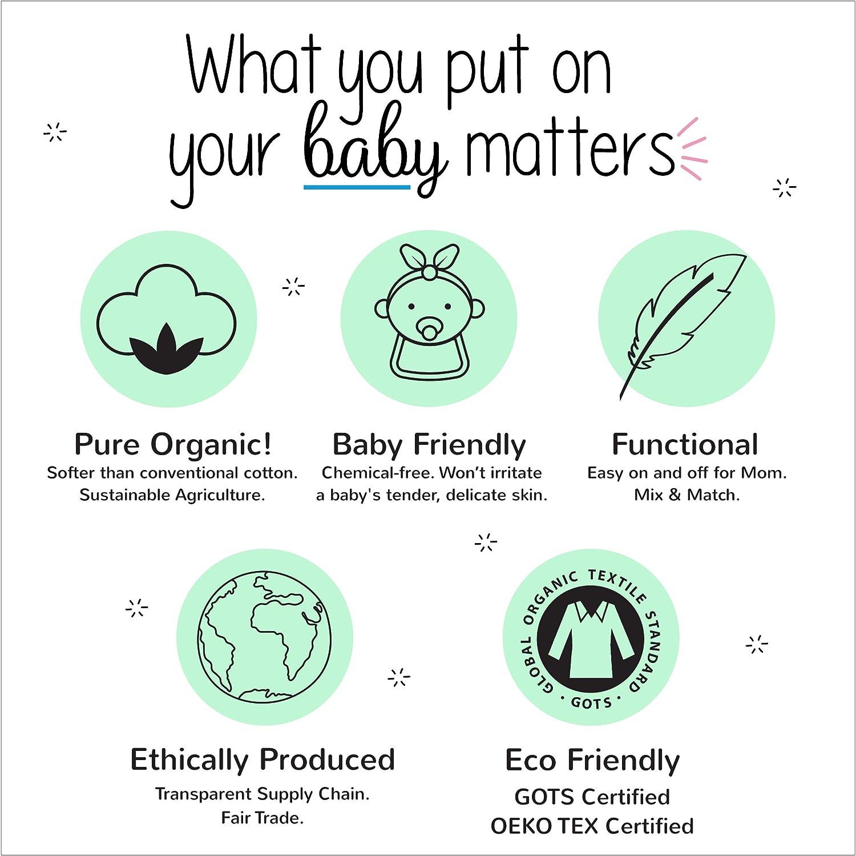 Baby and Toddler Footless Lamaze Organic Baby Girls Stretchie One Piece Sleepwear Zipper