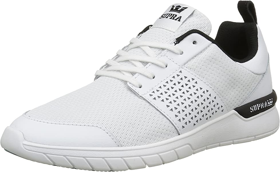 bdb715e09a36 Supra  quot Scissor Shoes (White Black-Aqua) Men s Athletic Mesh Running
