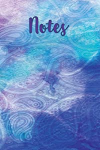 """Notes: A Multi-colored Paisley Notebook with 120 Lined Pages / Diary / Journal / 6"""" x 9"""""""