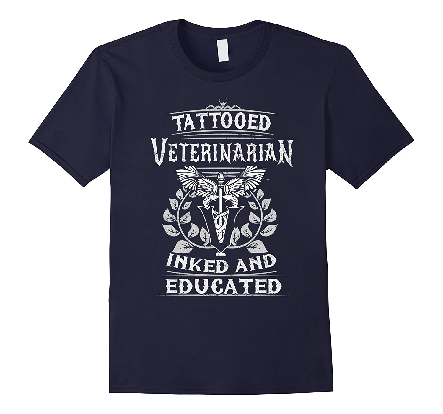 Tattooed Veterinarian Inked And Educated T-shirt-TH