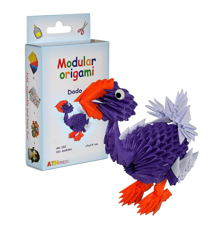 Origami modulare - Set carta 331 pezzi dodo piccolo ATH Press Ltd AN152