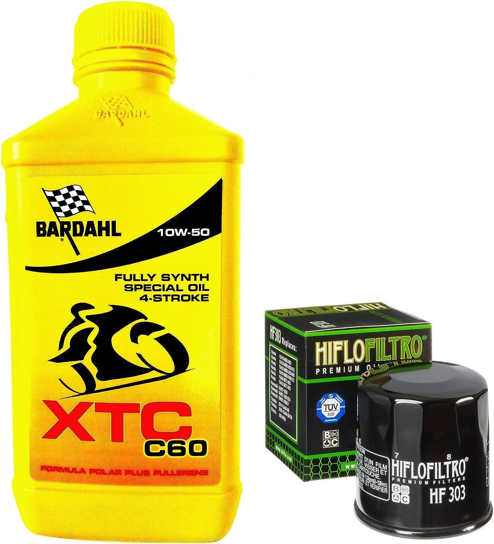 Kit Tagliando 4L Bardahl XTC C60 10 W50 Filtro Aceite Hiflofiltro ...