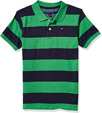 Tommy Hilfiger Boys Short Sleeve Wide Stripe Polo