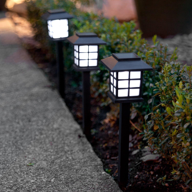 LED Solarlampe Solarleuchte Gartenlicht Außen-Beleuchtung Solar Laterne F7N4
