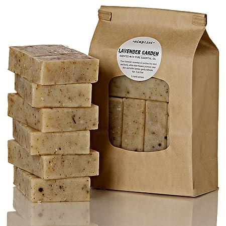 SIMPLICI Lavender Bar Soap Value Bag 6 Bars
