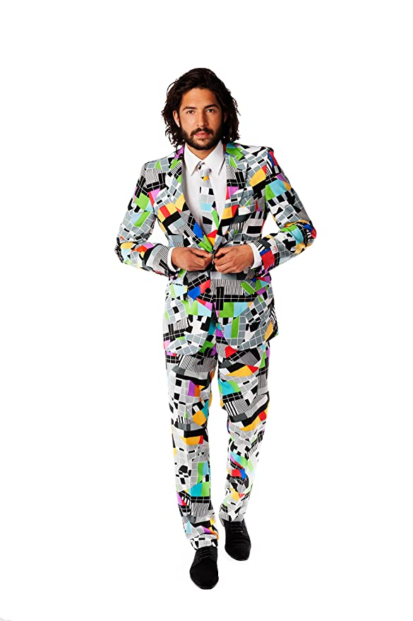 Opposuits Abschlussball kostüme für Herren - Mit Jackett, Hose und Krawatte mit Festlichen Print