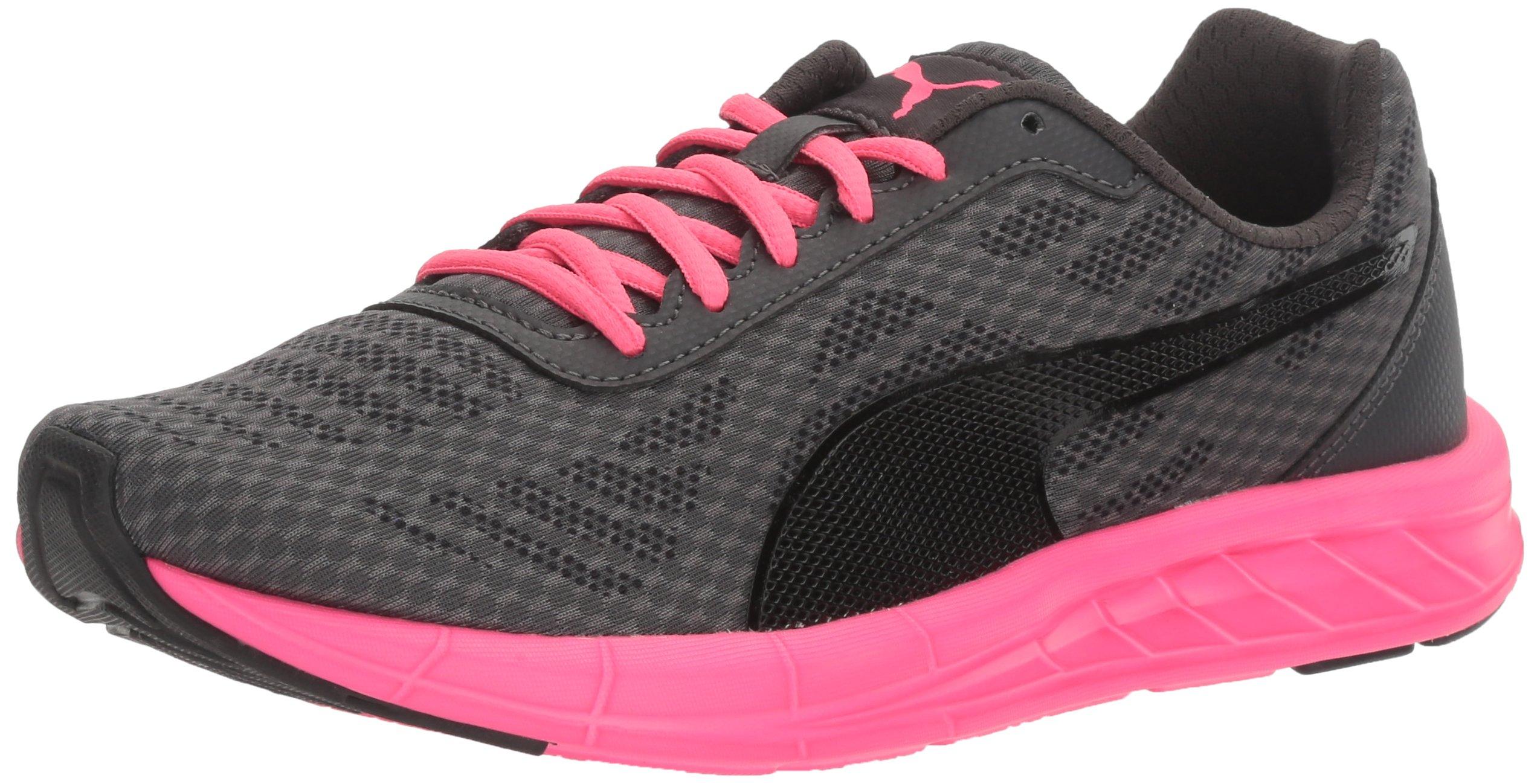 PUMA Women's Meteor Wn's Cross-Trainer Shoe, Black-Asphalt-Knockout Pink, 8.5 M US