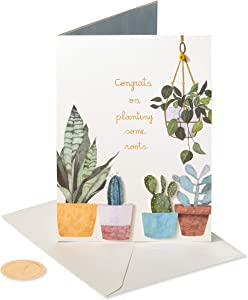 Papyrus Congratulations New Home Card (House Plants)